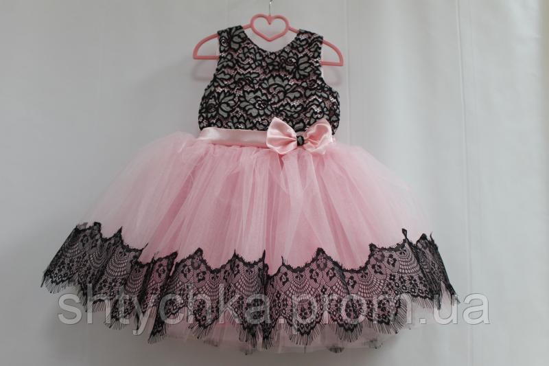 """Нарядное платье на девочку """"Гипюровая мечта"""" в розовом цвете"""