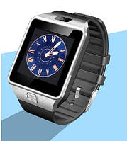 Умные часы телефон Smart Watch DZ09 c SIM картой Серебристый, фото 1
