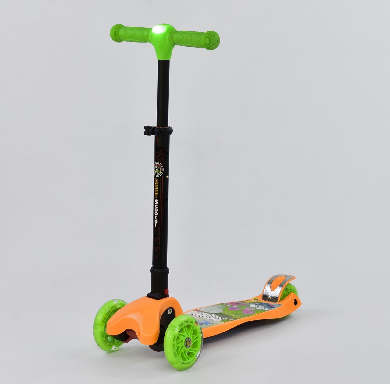 Best Scooter Самокат Best Scooter Leadlight С 40100 Green / Orange (С 40100)