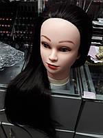 Голова учебная (иск. термо. волосы) , длина 70 см, чёрный, фото 1