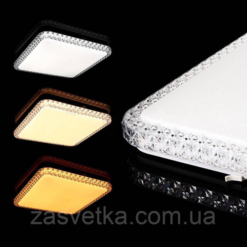Светодиодный светильник Liuli квадрат 90W + Пульт ДУ (55см) 1352