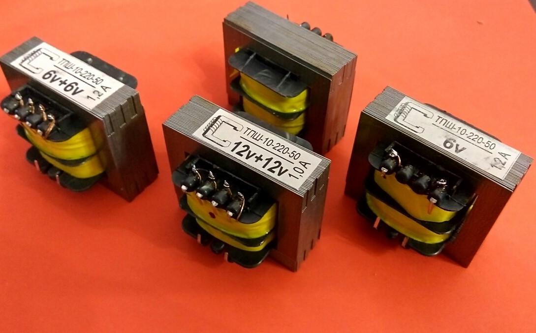 Трансформатор ТПШ-10-220-50 12+12В, 10Вт, А 1,0