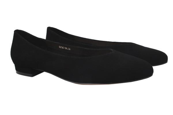 Туфли комфорт Berkonty натуральная замша, цвет черный