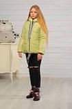 Демисезонная бирюзовая куртка для девочек Лола, фото 5
