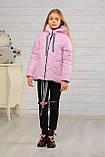 Демисезонная бирюзовая куртка для девочек Лола, фото 6