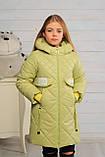 Демисезонная удлиненная куртка для девочек  Кейт, фото 4