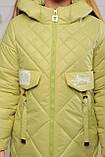 Демисезонная удлиненная куртка для девочек  Кейт, фото 5