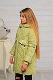 Демисезонная удлиненная куртка для девочек  Кейт, фото 6