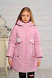 Демисезонная удлиненная куртка для девочек  Кейт, фото 8