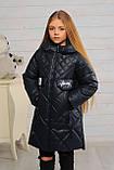 Демисезонная удлиненная куртка для девочек  Кейт, фото 9