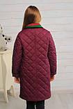 Стеганное демисезонное пальто для девочки, фото 2
