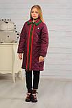 Стеганное демисезонное пальто для девочки, фото 3