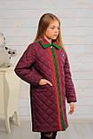 Стеганное демисезонное пальто для девочки, фото 5