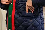 Стеганное демисезонное пальто для девочки, фото 9