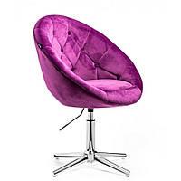Парикмахерское  кресло HROVE FORM HR8516 фуксия велюр, фото 1