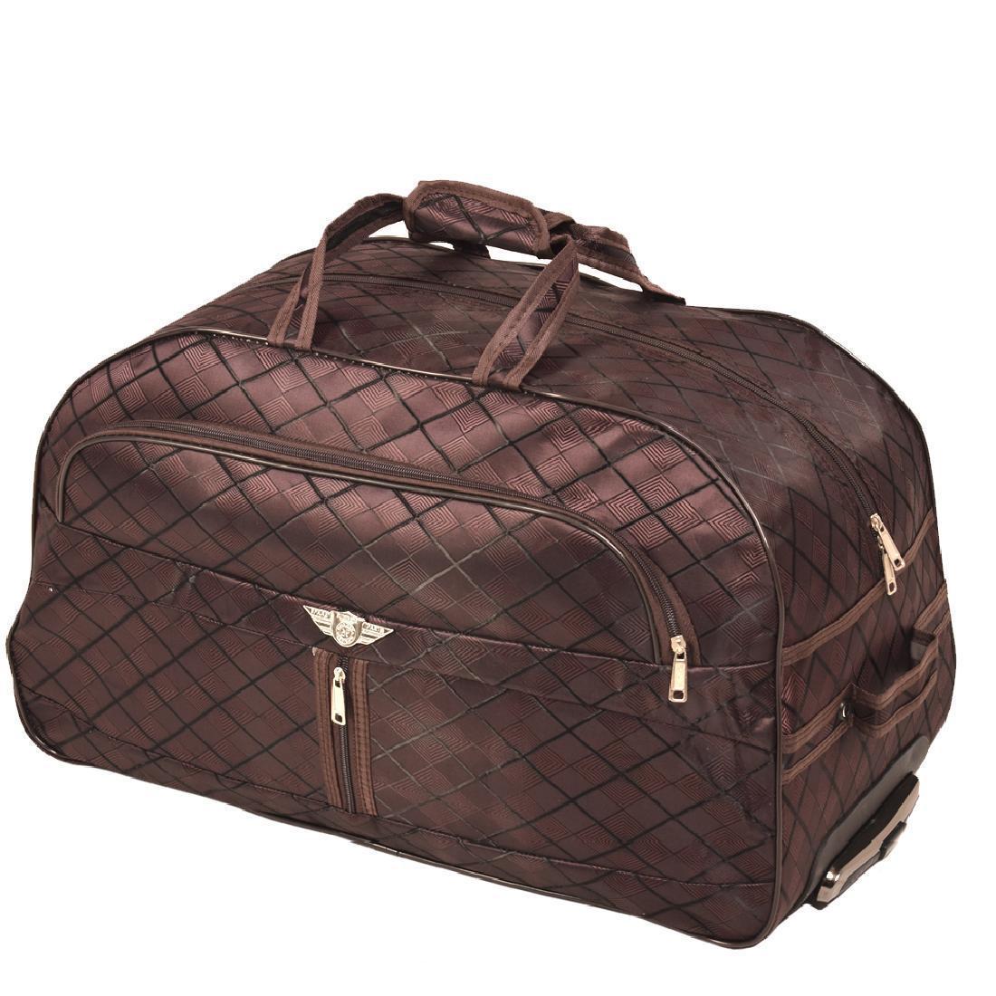 Дорожная сумка BagHouse 60 х 34 х 32 см Коричневая (ксЛ009вф)