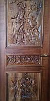 Эксклюзивная резная дверь из массива ореха