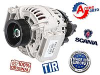 Генератор Scania 3, 4 P,G,R,T серия (24В, 80А) на тягач грузовой автомобиль 0124555008 запчасти