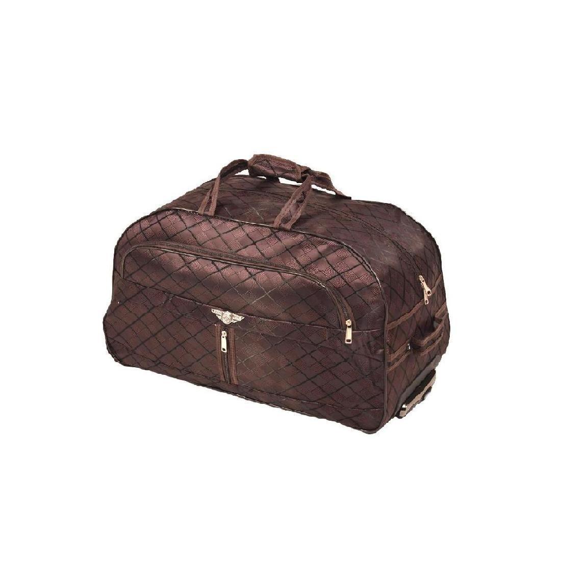 Дорожная сумка BagHouse 50 х 32 х 28 см Коричневая (ксЛ009мф)