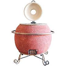Тандыр Утепленный на 60 литров. Дизайн «Мраморная крошка», фото 2