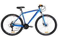 """Горный велосипед 29"""" Optimabikes MOTION AM 14G DD Al 2019 (сине-оранжевый )"""