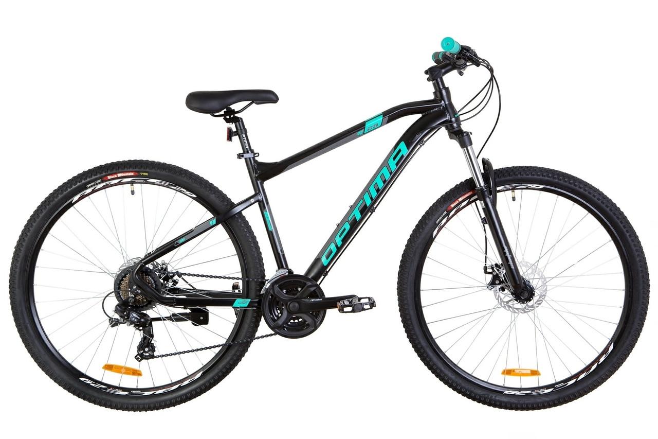 """Горный велосипед 29"""" Optimabikes F-1 DD 2019 (черно-бирюзовый (м))"""