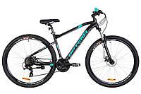 """Горный велосипед 29"""" Optimabikes F-1 AM 14G DD Al 2019 (черно-бирюзовый (м))"""