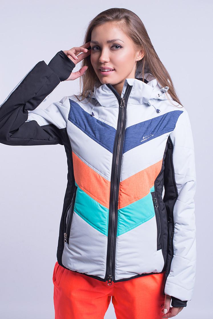 Куртка женская лыжная Avecs XL Оранжевый с бирюзовым (8693/2 - xl)
