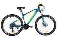 """Велосипед 27.5"""" Optimabikes F-1 AM 14G DD Al 2019 (бирюзово-желтый)"""