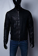 Куртка мужская демисезонная кожзам GS 067740 черная