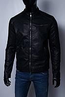 Куртка мужская демисезонная кожзам GS 067743 черная