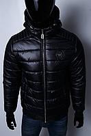 Куртка мужская зимняя Phillip Plein VZ 1546 черная реплика