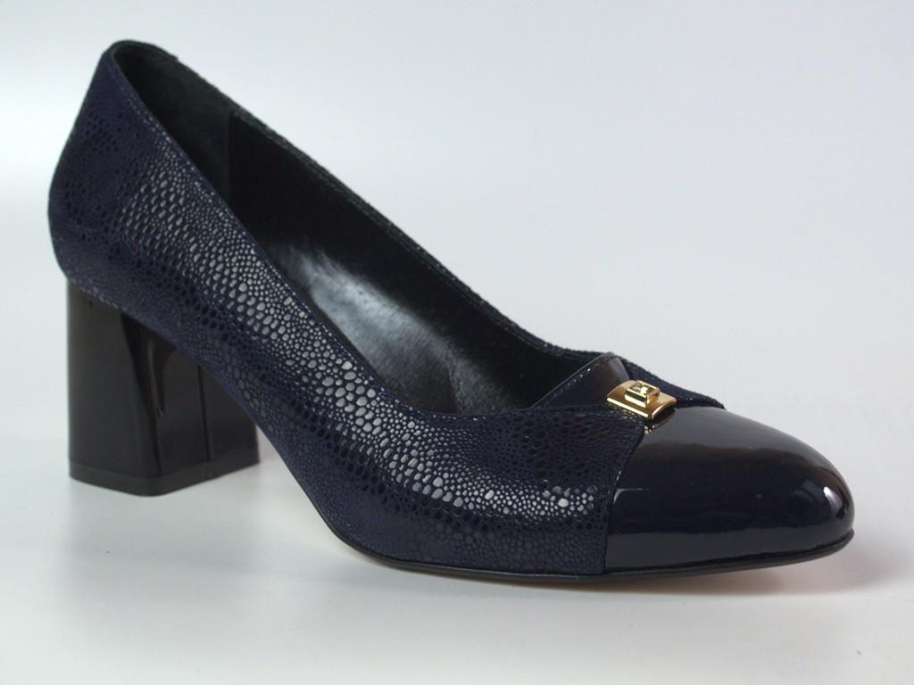 Туфлі човник великий розмір жіноче взуття Pyra V Gold BS Blu Lether by Rosso Avangard шкіряні чорні