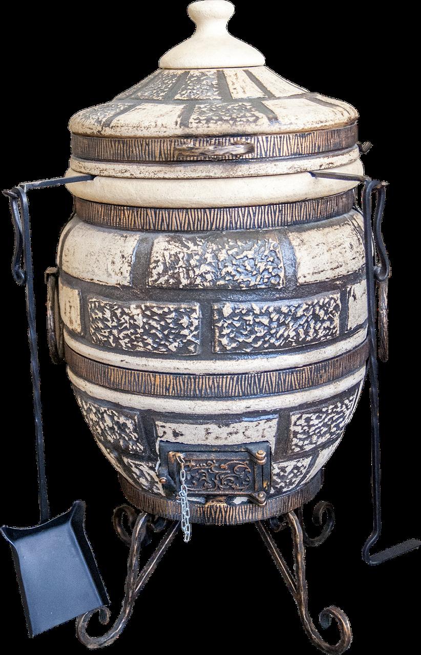 Тандыр бытовой Люкс-2 на 60 литров. Дизайн «Кирпич»