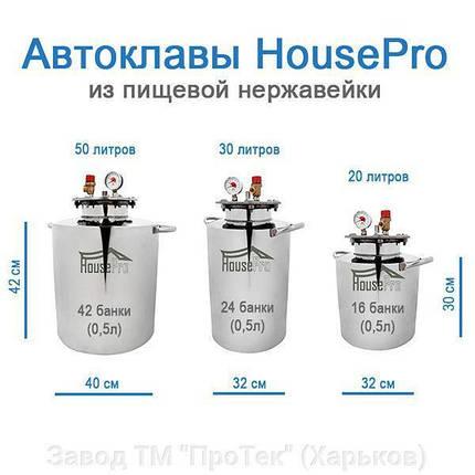 """Автоклав """"Домашний мастер 42"""" из пищевой нержавейки 42 пол литровых банок (18 литровых), фото 2"""