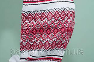 Женская вышиванка с красным орнаментом | Жіноча вишиванка з червоним орнаментом, фото 3