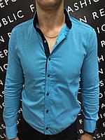 1461e2d8e2a Рубашки Мужские Бирюзовые — Купить Недорого у Проверенных Продавцов ...