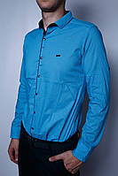 Рубашка мужская PS 7191 бирюза