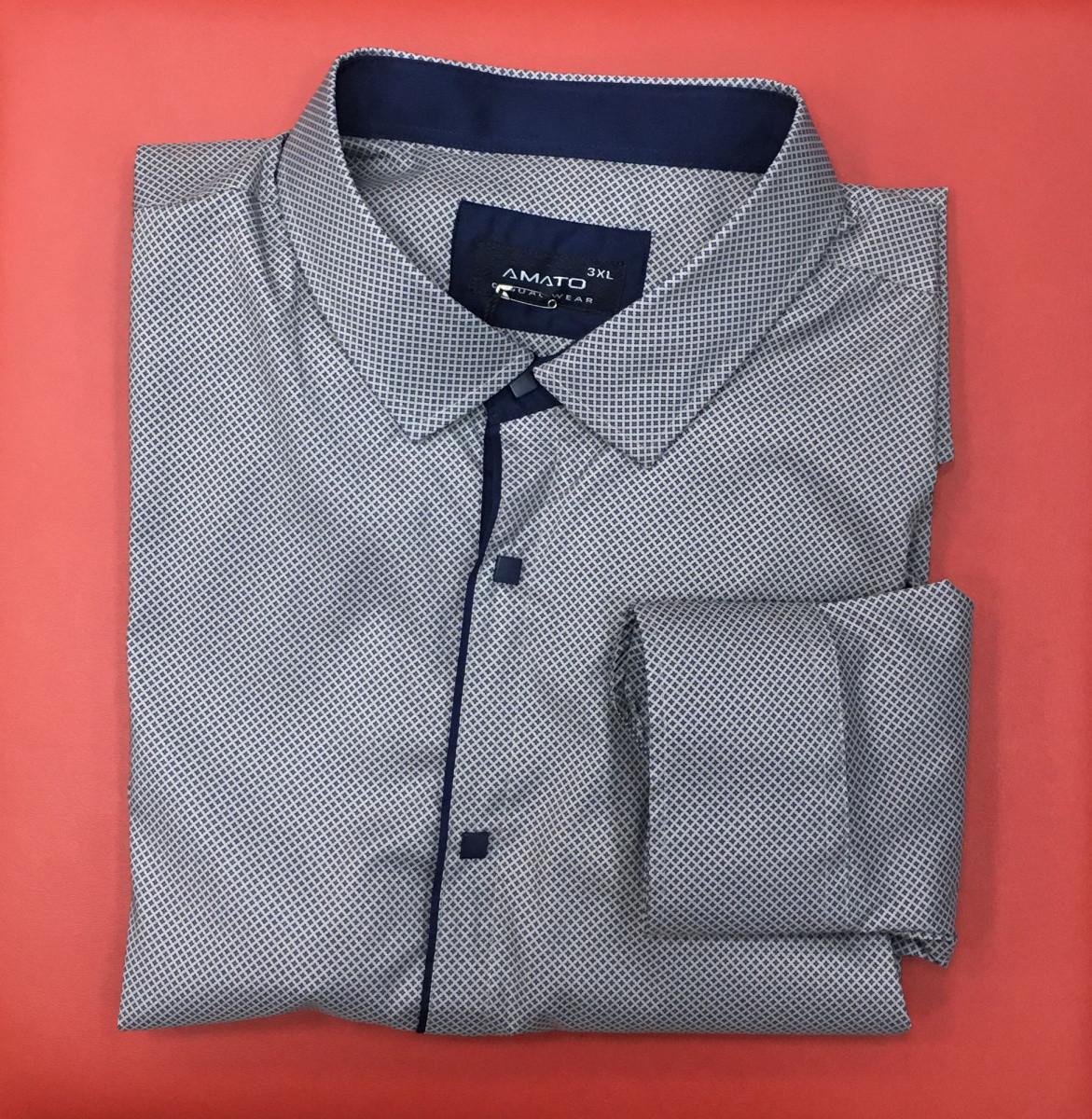 409c6f8e0f771af Рубашка Мужская Батальная Amato 172813_1 Бежевая — в Категории ...