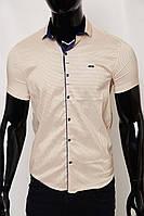 0172737f64f Рубашка мужская короткий рукав PS 2097 1 айвори