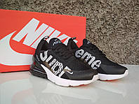 Кроссовки женские в стиле Nike Air Max 270 Supreme black/white