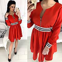 Женское платье стильное (мод. 1211) Цвета: черный, красный, белый, фото 1