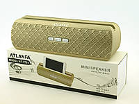 Atlanfa AT-7735, Bluetooth колонка 10W с FM MP3, золотая