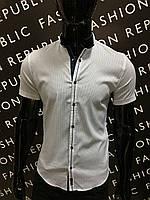 28089a8a604 Рубашка мужская с коротким рукавом Amato 311419 белая