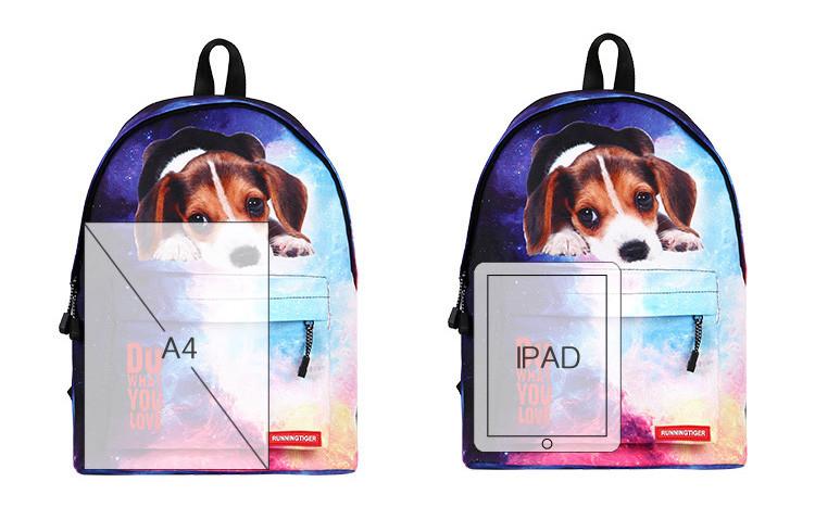 Рюкзак школьный с собакой Джек Рассел терьер . Running Tiger - фото 4