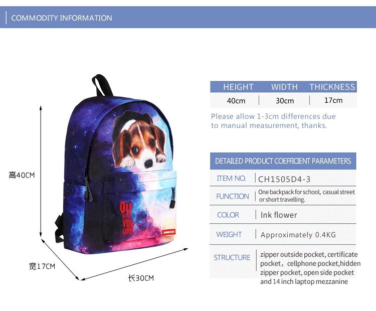 Рюкзак школьный с собакой Джек Рассел терьер . Running Tiger - фото 9