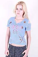 Женская футболка модной вязки