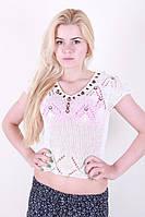 Модная женская футболка ажурная