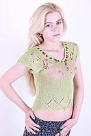 Стильная женская вязаная футболка