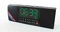 Wster WS-1515BT Bluetooth FM приемник с часами и будильником, портативная колонка MP3